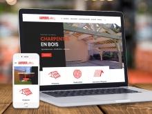 Site internet Charpente des Monts | Benjamin PIEGAY, graphiste à Lyon et dans les Monts du Lyonnais