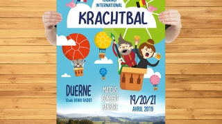Affiche Tournoi de Krachtbal | Benjamin PIEGAY, graphiste à Lyon et dans les Monts du Lyonnais