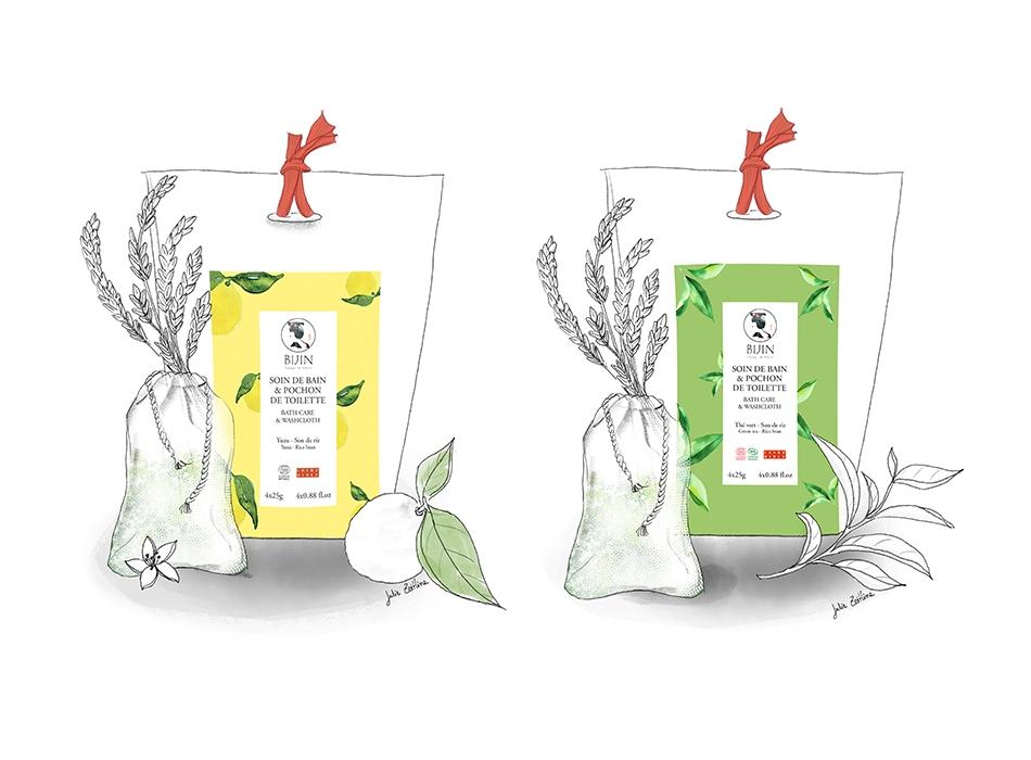 Packaging cosmétiques japonais BIJIN | Benjamin PIEGAY, graphiste à Lyon et dans les Monts du Lyonnais