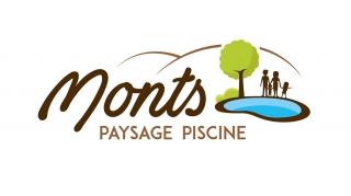Benjamin PIEGAY, graphiste freelance dans les Monts du Lyonnais : Logo Monts Paysage Piscine