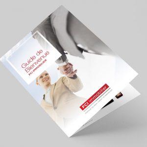 Brochure FCI Immobilier | Benjamin PIEGAY, graphiste à Lyon et dans les Monts du Lyonnais