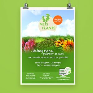 Flyer Meys Plants | Benjamin PIEGAY, graphiste à Lyon et dans les Monts du Lyonnais