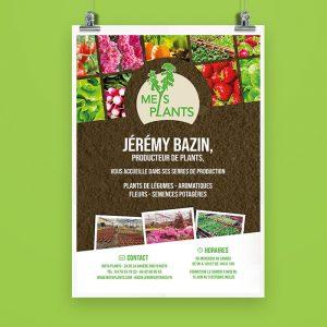 Affiche Meys Plants | Benjamin PIEGAY, graphiste à Lyon et dans les Monts du Lyonnais