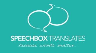 Logo Speechbox Translates | Benjamin PIEGAY, graphiste à Lyon et dans les Monts du Lyonnais
