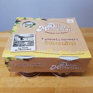 Packaging yaourt Vanille | Benjamin PIEGAY, graphiste à Lyon et dans les Monts du Lyonnais