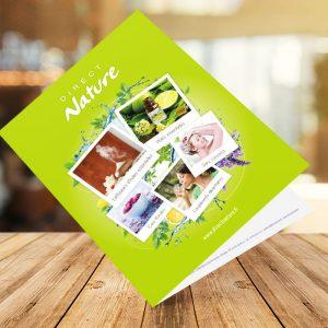 Brochure plaquette Direct Nature | Benjamin PIEGAY, graphiste à Lyon et dans les Monts du Lyonnais