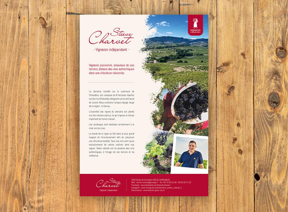 Plaquettes Steeve Charvet vigneron indépendant