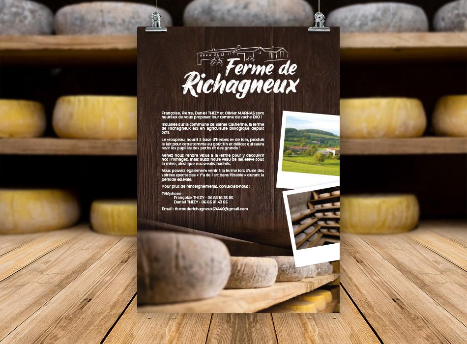 Affiche ferme de Richagneux
