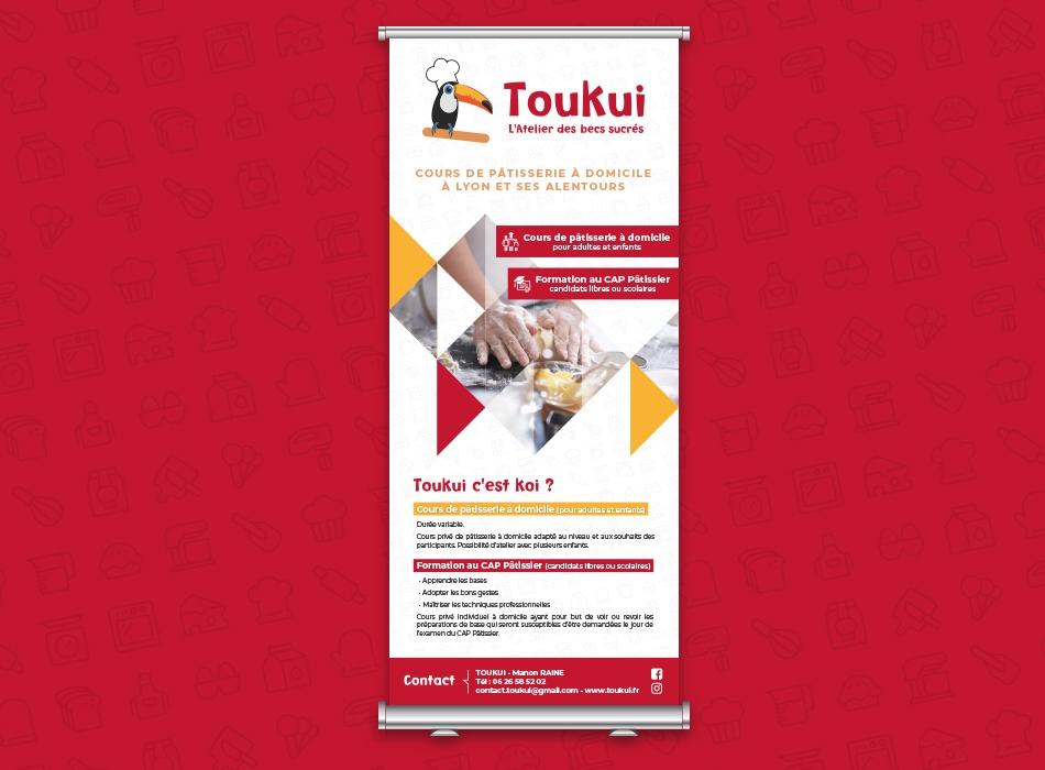 Kakemono / Roll-up pour TOUKUI à Lyon