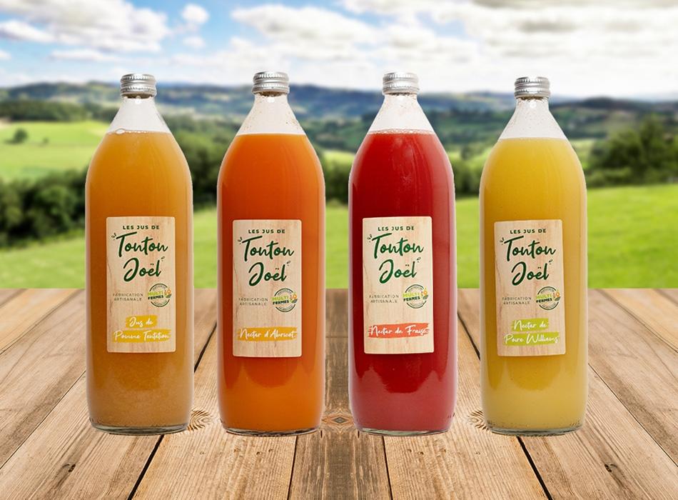Etiquettes jus de fruits MULTI-FERMES